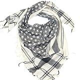 LOVARZI Schwarz Halstuch -Damen und Herren Sternen Schal Baumwoll Schal für Männer und Frauen