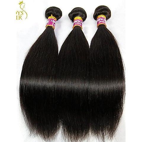 &G&g& 2016 La extensión del pelo - para Mujer - Cabello natural - Negro - Ondulado , 30 30 30-#1b