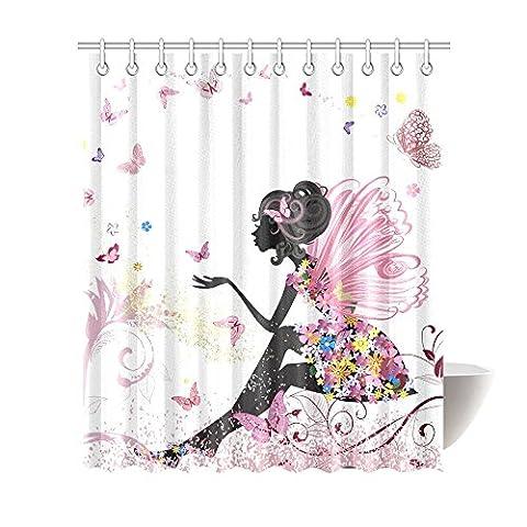 Interestprint Papillon Rose Robe à fleurs Fille Fleur Fée Ailes