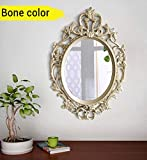#8: TIED RIBBONS Vintage Antique Style Home Decorative Wall Mirror for Bedroom Home Décor Living Room Bathroom(58 cm X 38 cm, Plastic Framed Mirror)