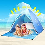 Tente de Plage Adulte Anti UV,Oummit Tente Pop Up Automatique Pliable Portable Abris...