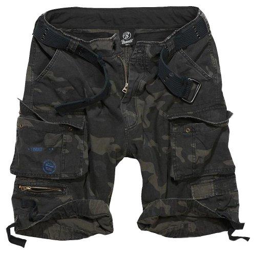 Brandit Savage Vintage Shorts Vintage Shorts schwarz Dunkle Camo