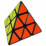 LSMY Pyraminx 3x3 Puzzle Cubo Toy Negro