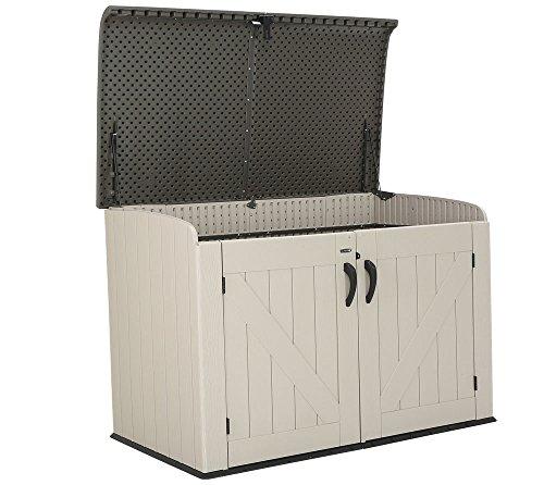 Lifetime XXL Kunststoff Mülltonnenbox, Gerätebox, Aufbewahrungsbox // BxTxH 190x108x132cm // Gartengerätebox für Mülltonnen - 3