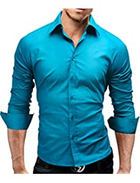 MERISH Hombre Camisas de vestido formal de Manga Larga Slim Fit Modell 01 3280fae46af