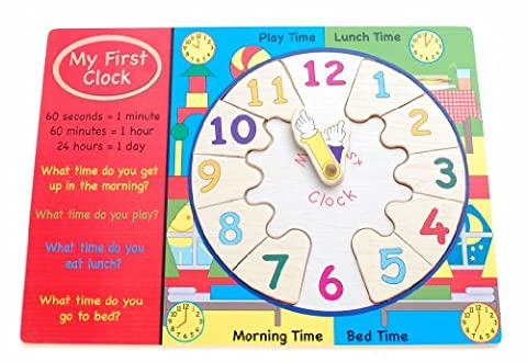My First Clock Wooden Puzzle