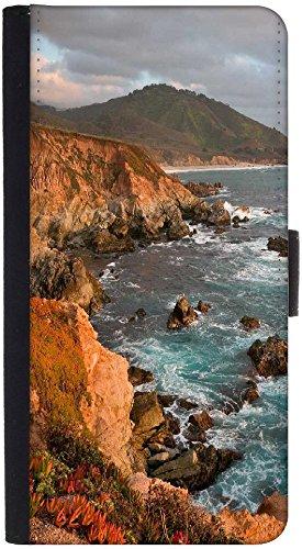 Snoogg Big Rocks In The Sea Designer Protective Phone Flip Back Case Cover For Xiaomi Redmi Note 3