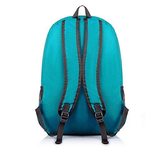 TJ Esterno impermeabile Travel Bag TJ moda pieghevole Borsa a tracolla casual maschile Sport Zaino Femminile , black Purple