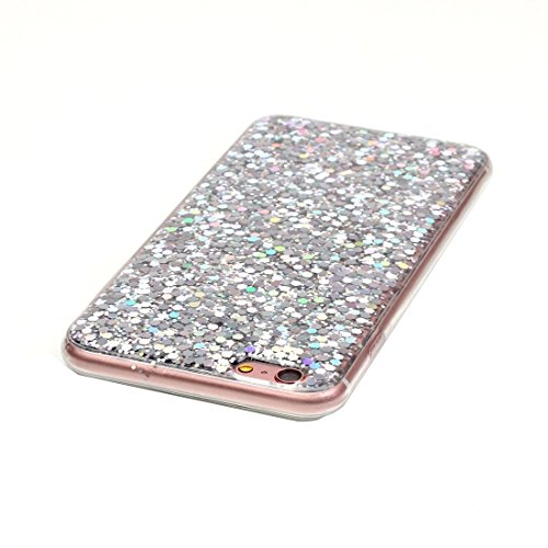 BING Für iPhone 6 / 6s, Glitter Powder Soft TPU Schutzhülle BING ( Color : Red ) Silver