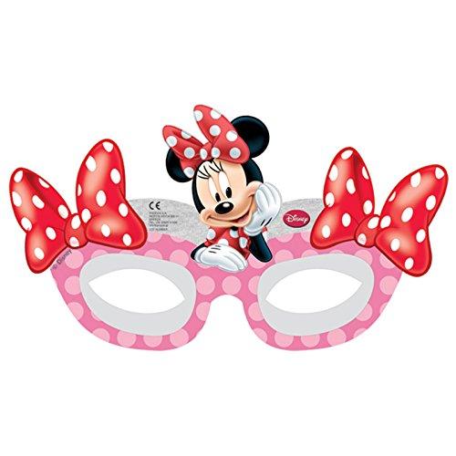 Minnie Mouse Masken Lizenzware 6 Stück bunt 18x12cm Einheitsgröße