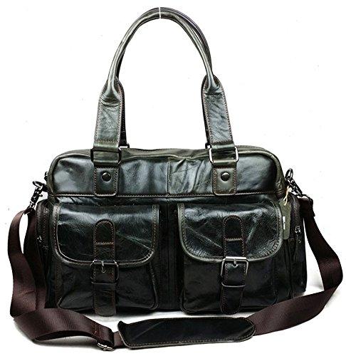 insum Herren Fashion Leder Handtasche Tasche dunkelgrün