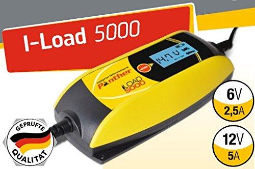 Preisvergleich Produktbild Panther iLOAD 5000 KFZ Batterieladegerät Ladegerät Batterie Auto Akku Ladegerät Autobatterie aufladen 6V+12V 5 A