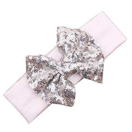 Koly® Moda elastico sveglio paillettes dell'arco della neonata fascia