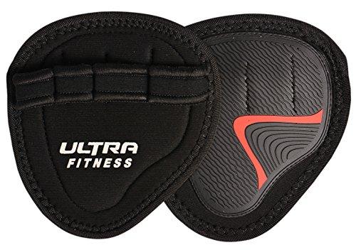 Ultra Fitness (neopreno)–higiénico alternativa para levantamiento de peso gimnasio guantes, negro