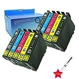 Caidi 10x Cartouches d'encre Compatible pour Epson 29 XL pour Epson Expression Home...