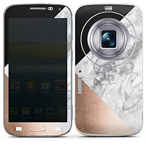 DeinDesign Samsung Galaxy K Zoom Folie Skin Sticker aus Vinyl-Folie Aufkleber Marmor Rose Gold Muster
