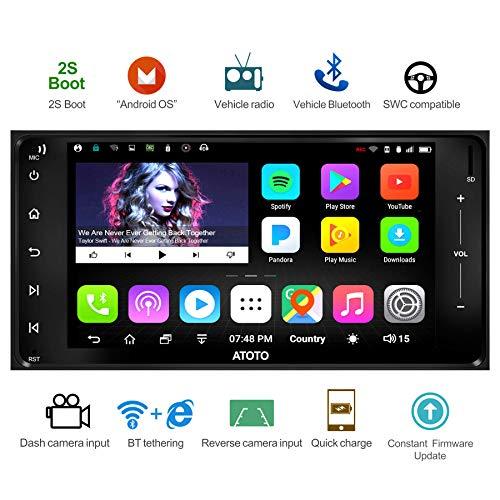 [Nouveau] ATOTO A6 Android Voiture de Navigation avec Double Bluetooth et Charge Rapide -Toyota/Subaru-Premium A6YTY721P 2G / 2G Radio Indash multimédia, WiFi/BT Internet Tethering