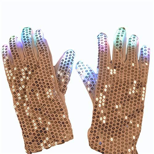 (Patch Handschuhe Luminous Handschuhe LED Glow Cool Dance Ausrüstung Halloween Weihnachten Lieferungen LED Strobe Stick für Party)