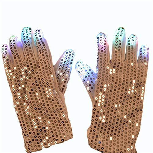 Dance Luminous Kostüm - Patch Handschuhe Luminous Handschuhe LED Glow Cool Dance Ausrüstung Halloween Weihnachten Lieferungen LED Strobe Stick für Party