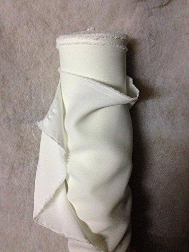 generique - creadetex.com Tissus BURLINGTON infroissable ECRU IVOIRE deco nappe habillement au 0.50 metre largeur 150 cm
