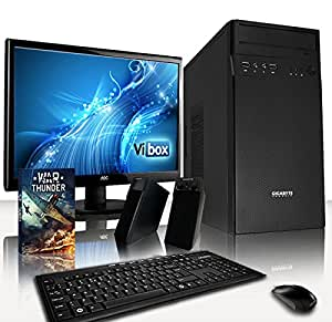 "VIBOX IQ Package 17 - Advanced, Home, Office, Family, Desktop PC, USB3.0 Computer with WarThunder Game Bundle, Full Package with 22"" Monitor, Creative Speaker Set, Multimedia Keyboard & Mouse Complete Bundle - Including 64Bit Windows 10 PLUS a Lifetime Warranty Included* (Fast 3.6GHz Intel, I7 4790 Quad-Core, Haswell, Processor, 2TB HDD Hard Drive, 16GB 1600MHz RAM)"