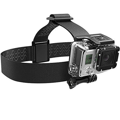 Sabrent Montura para cámara GoPro con correa para la cabeza [Compatible con todas las cámaras GoPro]...