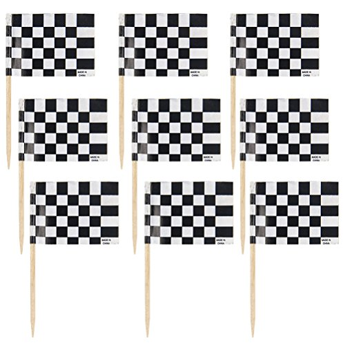 Rennen Flagge Kuchen Topper Cupcake Pick Racing Flagge Partei Cupcake Toppers Zahnstocher Dekorative 48 Stücke ()