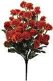 Fourwalls Artificial Marigold Flower Bunch (54 Flowers, Orange)