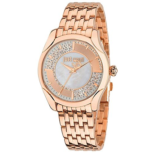 Just Cavalli - R7253593502 - Montre Femme - Quartz Analogique - Bracelet Acier Inoxydable Or et Rose