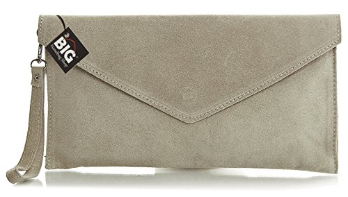 Big Handbag Shop, Borsetta da polso donna One Beige (beige)