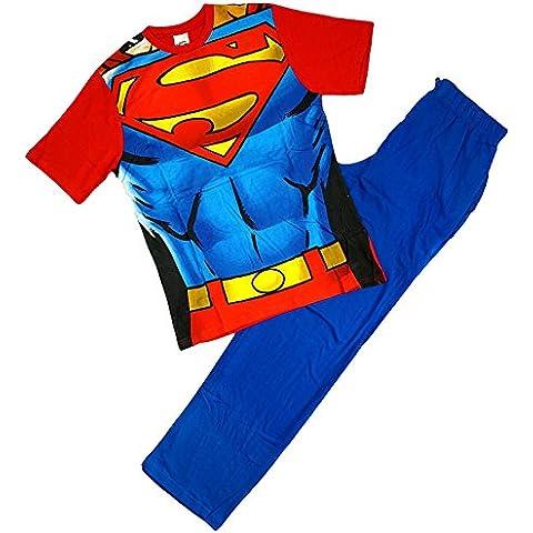 SUPERMAN para hombre Cuerpo Musculoso Novedad Disfraz Pijama De Algodón Tallas Ch M G EG