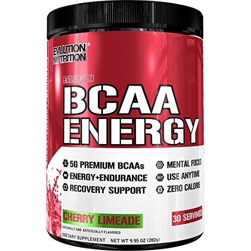 Evlution Nutrition BCAA ENERGY   Integratore In Polvere Di Amminoacidi Ramificati Per Alto Rendimento Resistenza Recupero Aumento Muscoli   Confezione Da 30 Dosaggi Al Gusto Cherry Limeade