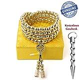 penixon Selbstverteidigung 108 Buddha Perlen Halskette Ketten (Voll Messing)