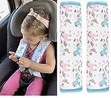 2x HECKBO cinturón de coche unicornio protector de la niña hombreras...