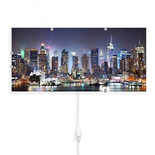 banjado-Wandlampe-56cmx26cm-Design-Wandleuchte-Lampe-LED-mit-Wechselscheibe-und-Motiv-New-York