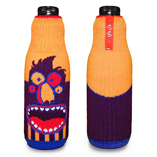 KIT-RAY Lustiges Monster Mr.PINK/Mr.RED/Mr.ORANGE/Mr.Happy/Mr.SAD Flaschenabdeckung Flasche Koozie Bottle by CUP OF SOX (Orange)