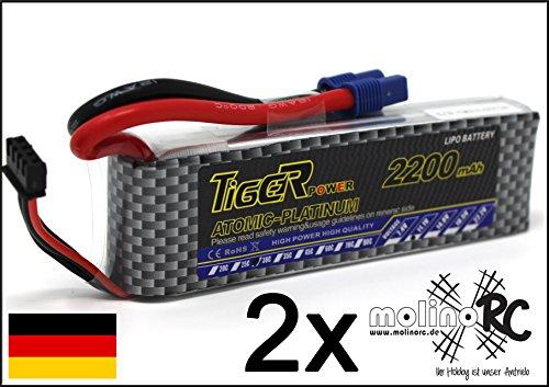 Safe-t-beam (2x Tiger Platinum 2200mAh | 30C - 60C | 3S 11,1V | Premium LiPo Akku Li-Po 30C 60C)