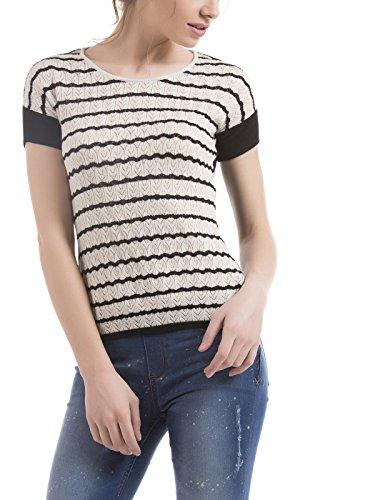 Arrow Womenswear Viscose Half Sleeve Black Shirt