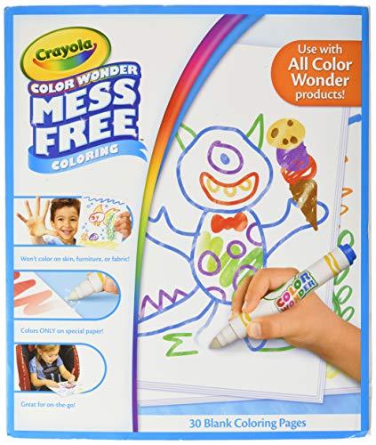 Crayola Color Wonder - 75-2479-E-000 - Recharge de Feuilles Blanches - Coloriage sans Tache
