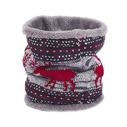 Männer Frauen Schal MYMYG Unisex Warme Strick Kutte Hals Mohair Weiche Winter Warme Baumwolle Schals Kragen Winter Wärmer Elastischer Pelz Ring Cowl Schal(D2-Mehrfarbig,Freie ()