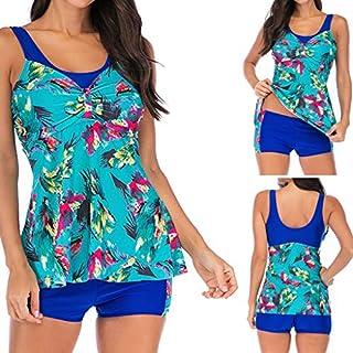 Womens Bikini Set,WSSB Women Plus Size Printed Swimjupmsuit Bikini Swimsuit Swimwear Tankini Women Swimsuit Beachwear Blue