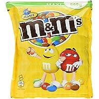 M&M'S Peanut / Knackige Erdnüsse umhüllt von Schokolade und bunter Zuckerglasur / Gefüllte Schokolinsen mit Nuss zum Knabbern / 4 x 500g Beutel