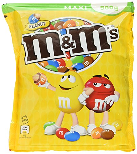 M&M's Peanut, 4 x 500 g - 4er Pack