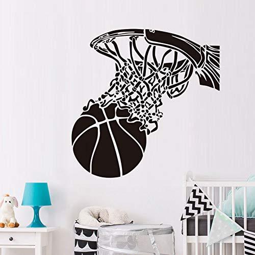 Basketball schießen in basketballkorb wandaufkleber sport fans home decor vinyl abnehmbare tapeten diy wandtattoos jungen zimmer 59x59 cm