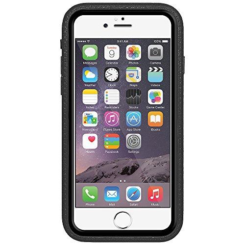 Amzer Crusta edge2edge Rugged Shell Case Cover mit Tempered Glas und Holster für iPhone 6Plus silber/gold _ P schwarz