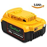 Waitley DCB184 Batterie pour DeWalt 20V 5.0Ah DCB200 DCB181 DCB182-XJ DCB184 Max XR Li-ion Batterie 5000mah