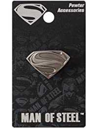 DC Superman Man of Steel Logo Pewter Lapel Pin by DC