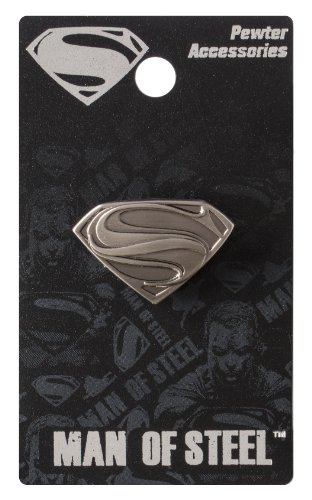 DC Superman Man of Steel Logo Zinn Anstecknadel
