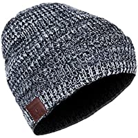 JJY Drahtlose Bluetooth-Beanie Hut, Knitted Music Hat, Built In Mic Stereo Speakers, Winter Warm Cap Hat Outdoor Sports, Skifahren, Laufen, Skating, Walking