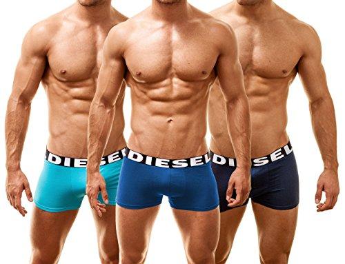 Diesel 3 Pack Shawn Boxershorts Bandana Blue, Small